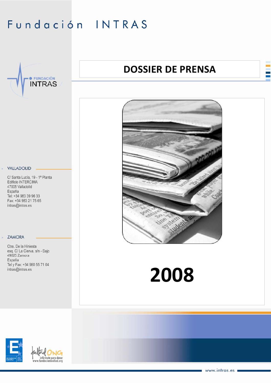 Actriz Porno Valladolid Española dossier de prensa 2008fundación intras - issuu