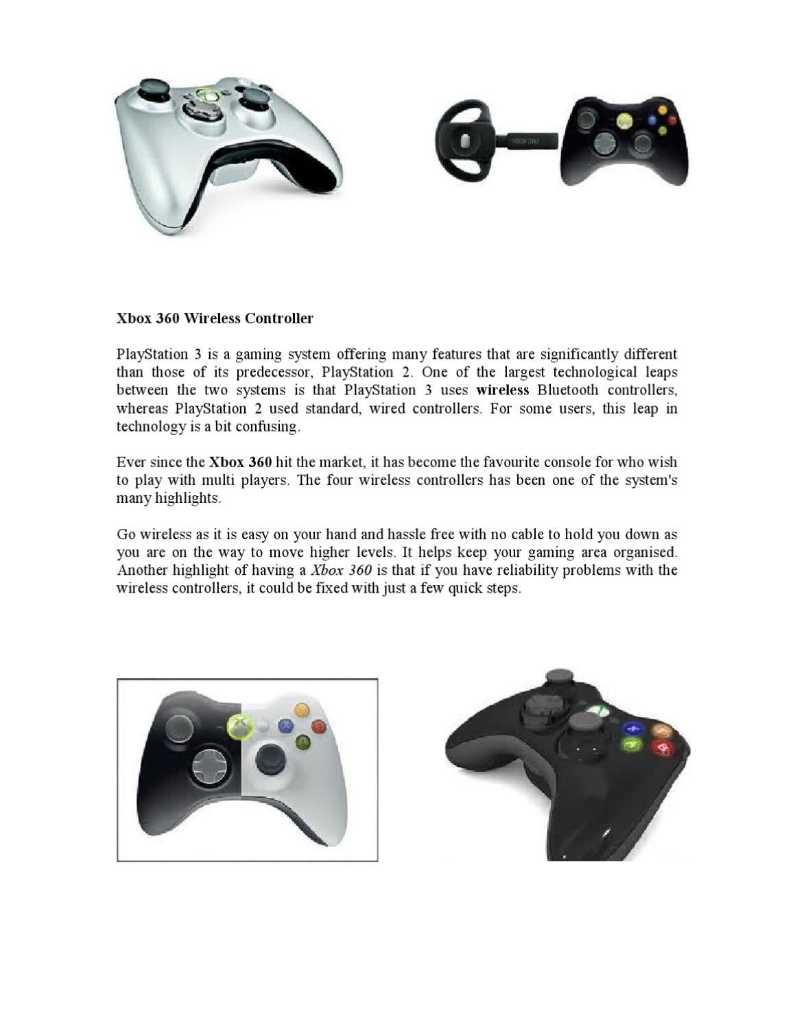 Xbox 360 Wireless Controller by Devin Berry - issuu
