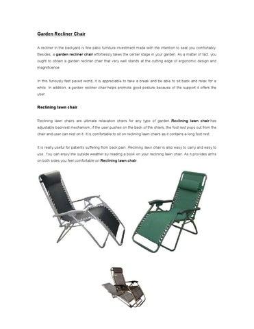Marvelous Garden Recliner Chair By Steve Buske Issuu Ibusinesslaw Wood Chair Design Ideas Ibusinesslaworg