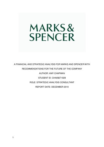pestle report on marks and spencer 02 marks and spencer group plc strategic report at a glance making every food moment special is the aim of our food business, which accounts for 60% of our uk turnover.