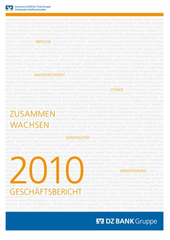 DZ BANK Geschaeftsbericht 2010 by Peter Schmidt Group - issuu