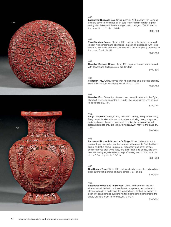 Asian Works of Art   Skinner Auction 2549B by Skinner, Inc