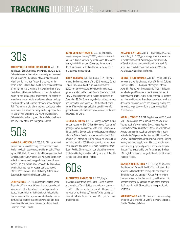Arts & Sciences Magazine Spring 2011 by University of Miami