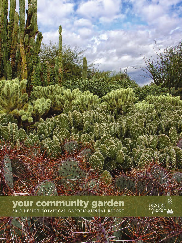 desert botanical garden 2010 annual report by desert botanical