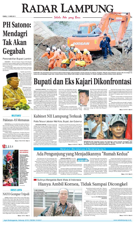 Radar Lampung Rabu 11 Mei 2011 By Ayep Kancee Issuu Produk Ukm Bumn Sulam Usus Pmk