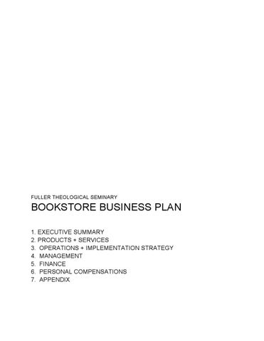 Fuller Bookstore Cafe Business Plan By Matthew Schuler Issuu - Bookstore business plan template