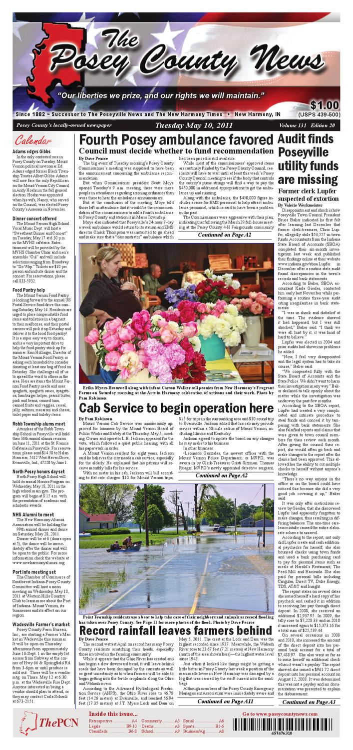 The Posey County News May 10 2011 By The Posey County News Issuu