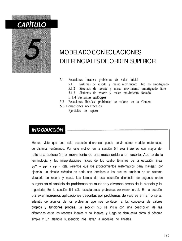 Ecuaciones Diferemciales - Capitulo 5 by Omar Torres - issuu