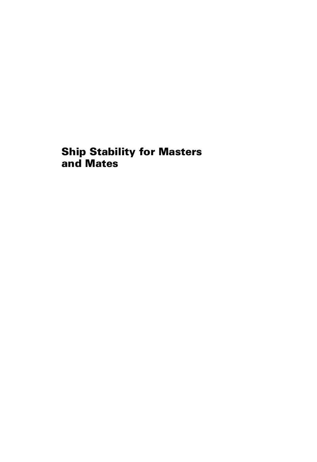 Ship Stability for Masters and Mates by john mccalum - issuu