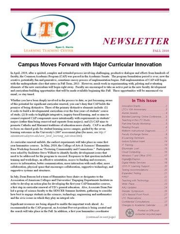 Univ of dayton learning teaching center ltc newsletter fall 2010 page 1 fandeluxe Images