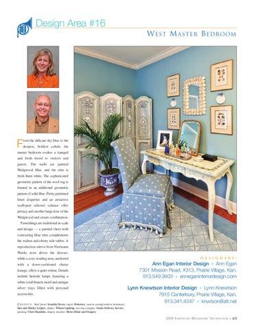 Design Area #16 W EST M ASTER B EDR OOM