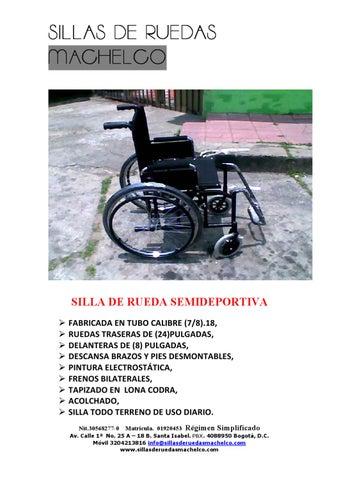 Catalogo de sillas de ruedas machelco by freddy rodriguez issuu - Catalogo de sillas de ruedas ...