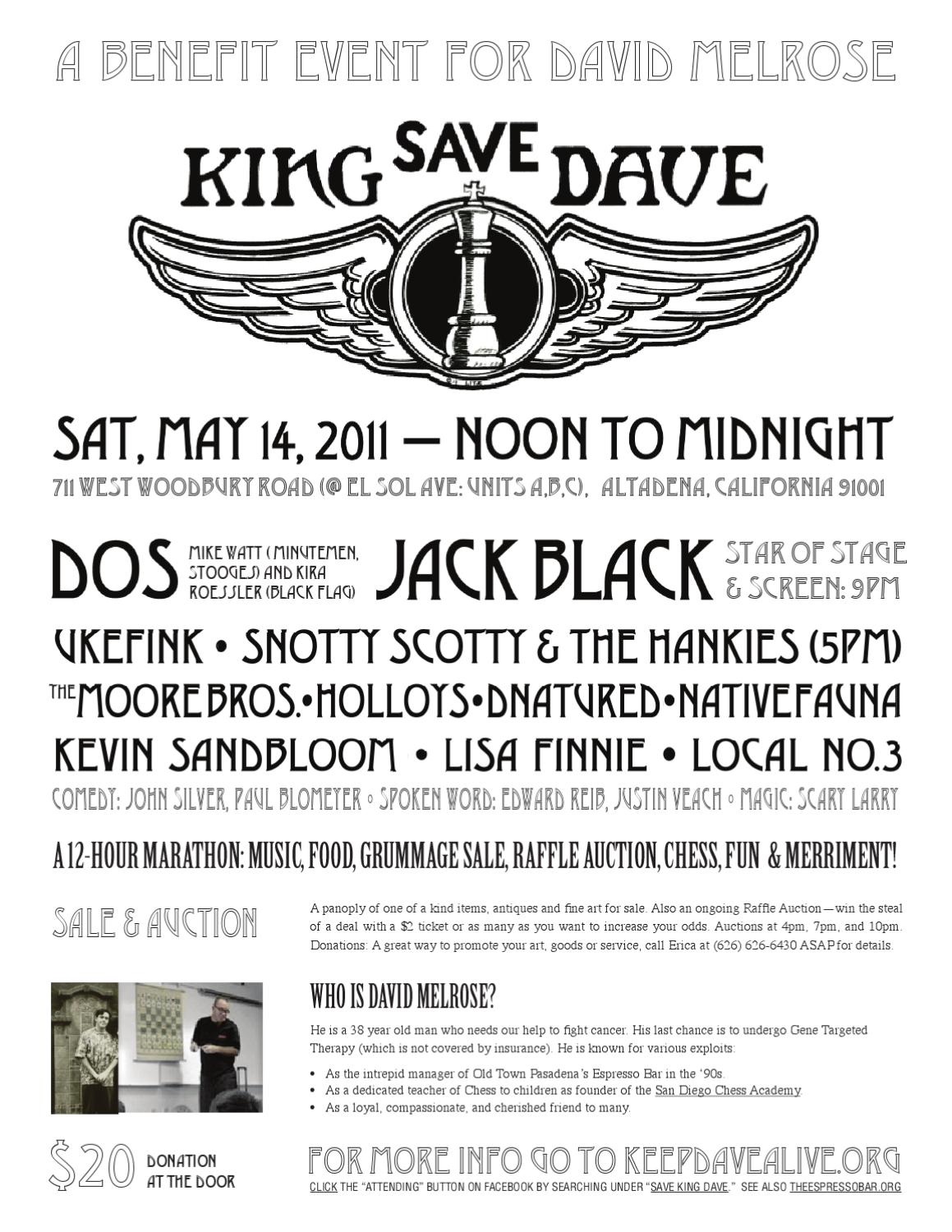 0be10c5f77e Save King Dave Fundraiser by kris perera - issuu
