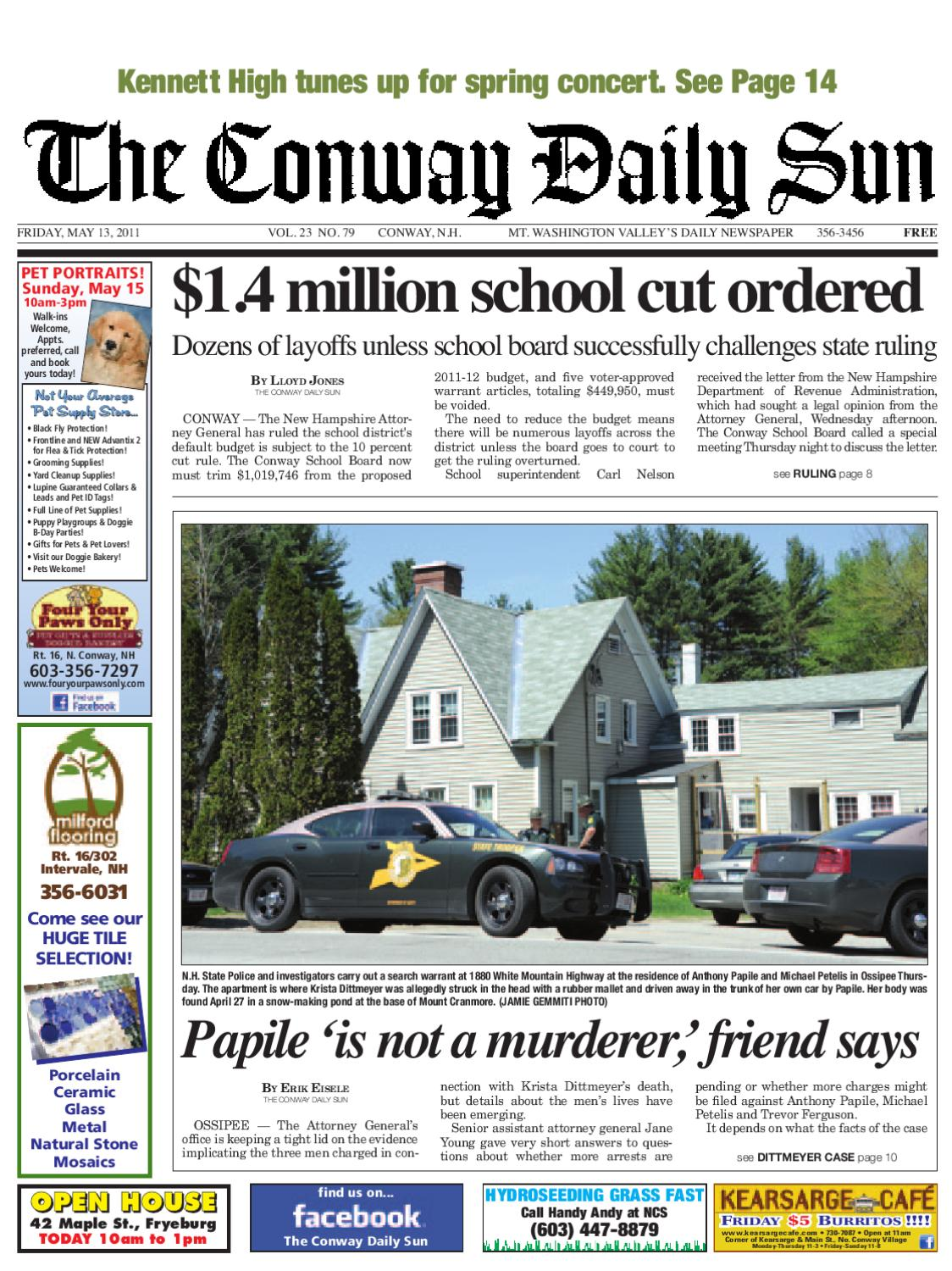 The Conway Daily Sun, Friday, May 13, 2011 by Daily Sun - issuu