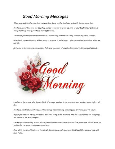 Good Morning Messages By Websms Messages Issuu
