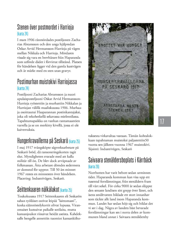 Haparanda Minnesmarken Muistomerkit By Haparanda Tornio Issuu