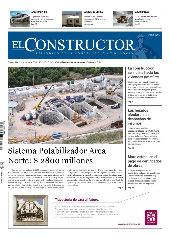 EL CONSTRUCTOR - 09/05/2011 - Año 110 - Nº 4890 by ELCO Editores - issuu