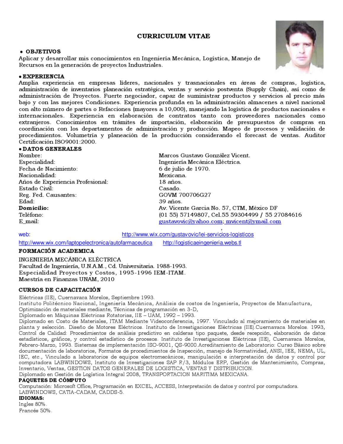 Curriculum Vitae by Gustavo Vicent - issuu