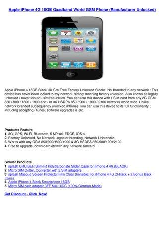 Apple iPhone 4G 16GB Quadband World GSM Phone (Manufacturer Unlocked