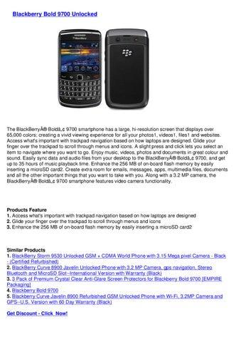 Blackberry Bold 9700 Unlocked by Mixsel seller - issuu