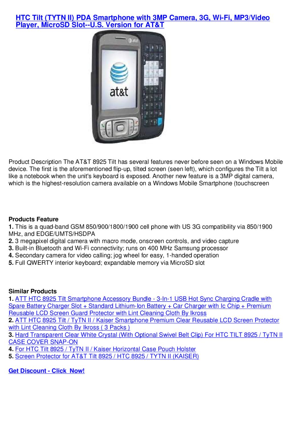 HTC Tilt (TYTN II) PDA Smartphone with 3MP Camera, 3G, Wi-Fi
