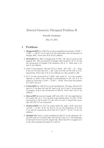 Selected Olympiad Geometry Problems by Russelle Guadalupe - issuu