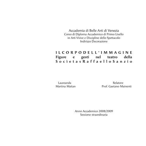 Accademia di Belle Arti di Venezia Corso di Diploma Accademico di Primo  Livello in Arti Visive e Discipline dello Spettacolo Indirizzo Decorazione 4cc4c585792