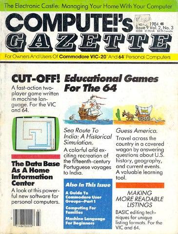 Compute Gazette Issue 09 1984 Mar By Zetmoon Issuu