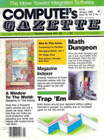 f2c896a9886 Compute Gazette Issue 19 1985 Jan by Zetmoon - Issuu