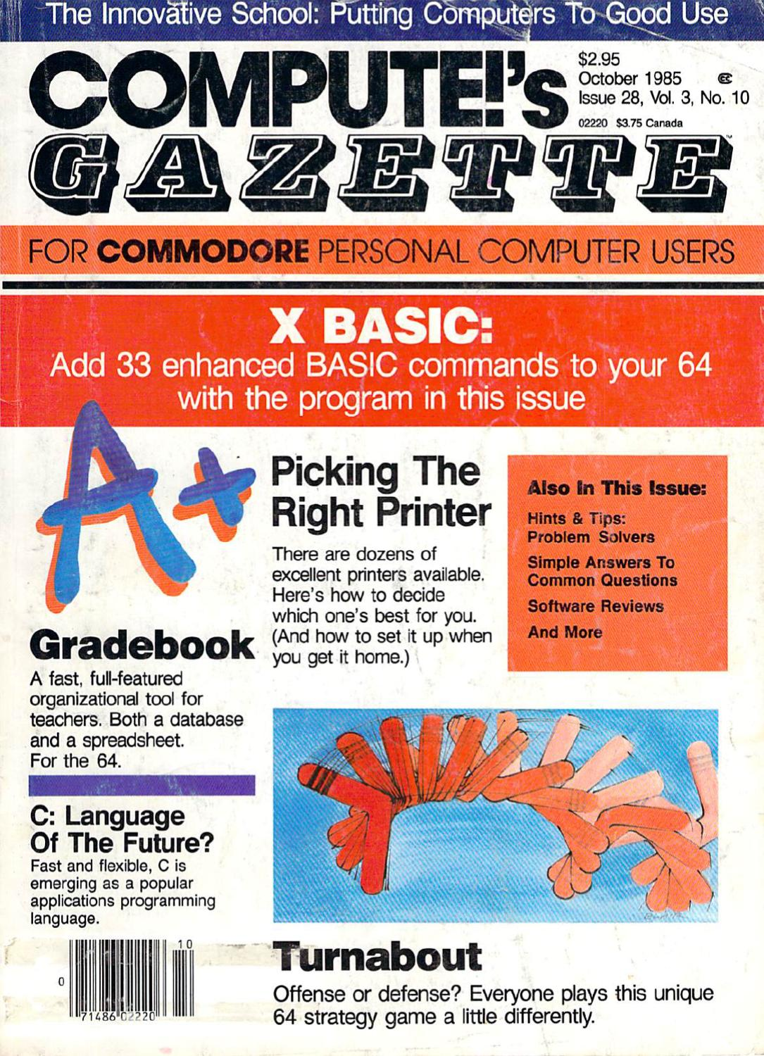 0a11377187304 Compute Gazette Issue 28 1985 Oct by Zetmoon - issuu