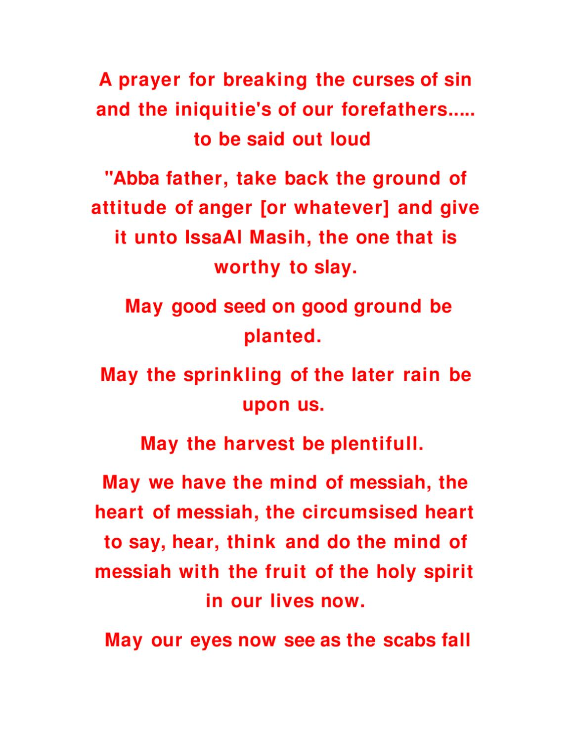 prayer for breaking the curses of sin by danny buck - issuu