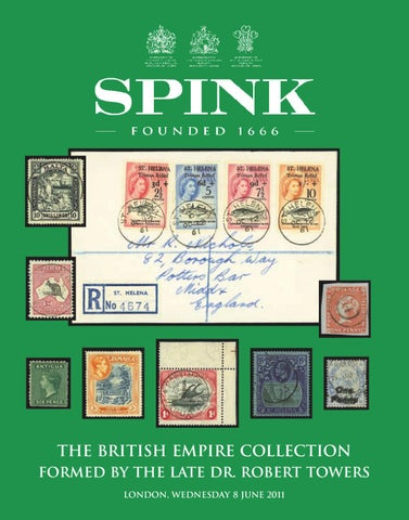 Dr  Robert Towers Collection Of British Empire by Spink and
