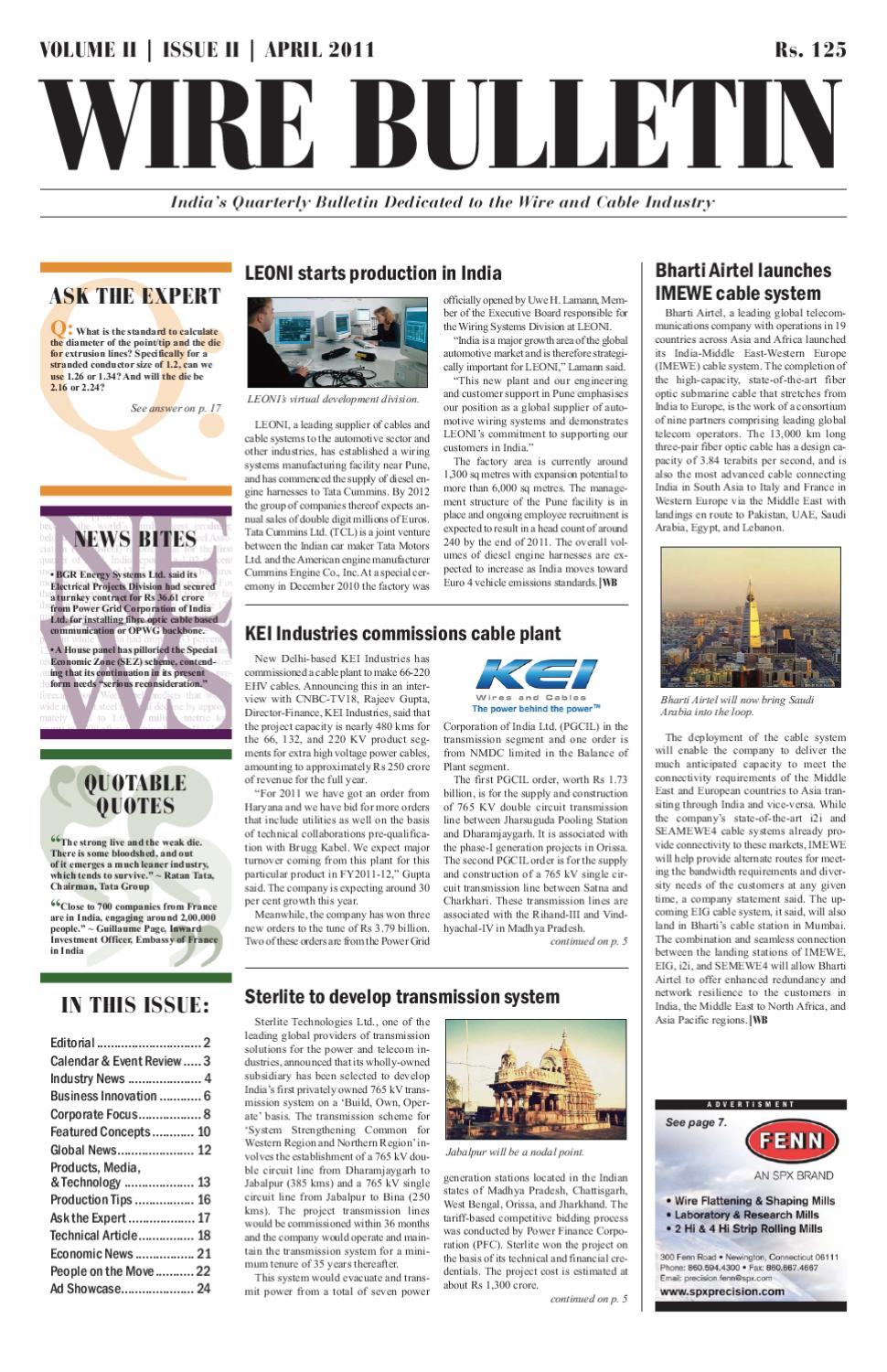 Wire Bulletin - Apr 11 by Wire Journal International, Inc
