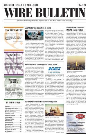 Wire Bulletin - Apr 11