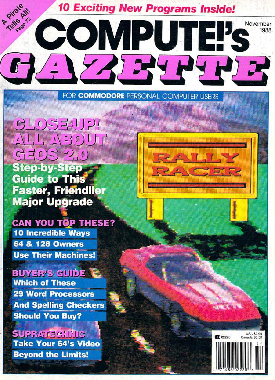 Compute Gazette Issue 65 1988 Nov By Zetmoon