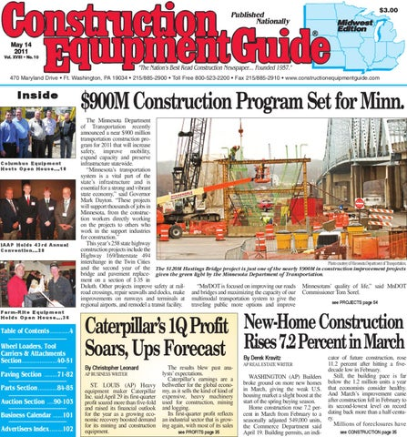Midwest #10, 2011 by Construction Equipment Guide - issuu on