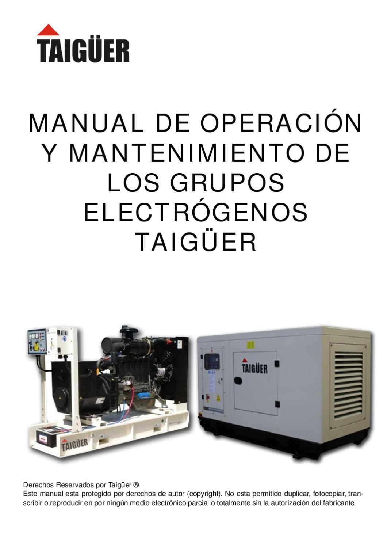 Manual grupos electrogenos taig er by taig er generadores - Grupos electrogenos precios ...