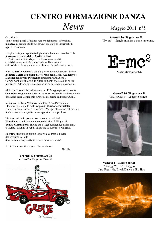 Giornalino Centro Formazione Danza N5 By Centro Formazione Danza
