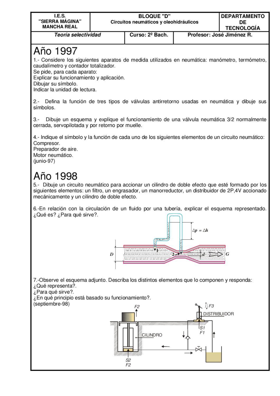 Circuito Neumatico Simple : Teoria circuitos neumaticos y oleohidraulicos by jose luis del rio