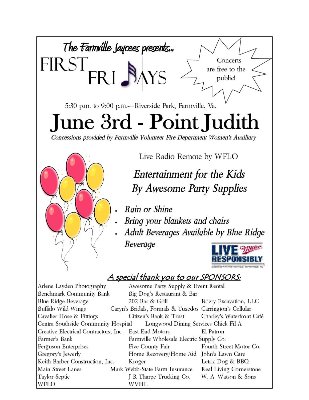 First Fridays June 2011 By Farmville Jaycees Issuu