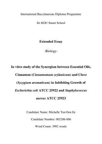 biology ib extended essay