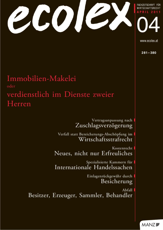 Ecolex 4 2011 By Manz Sche Verlags U Universitatsbuchhandlung