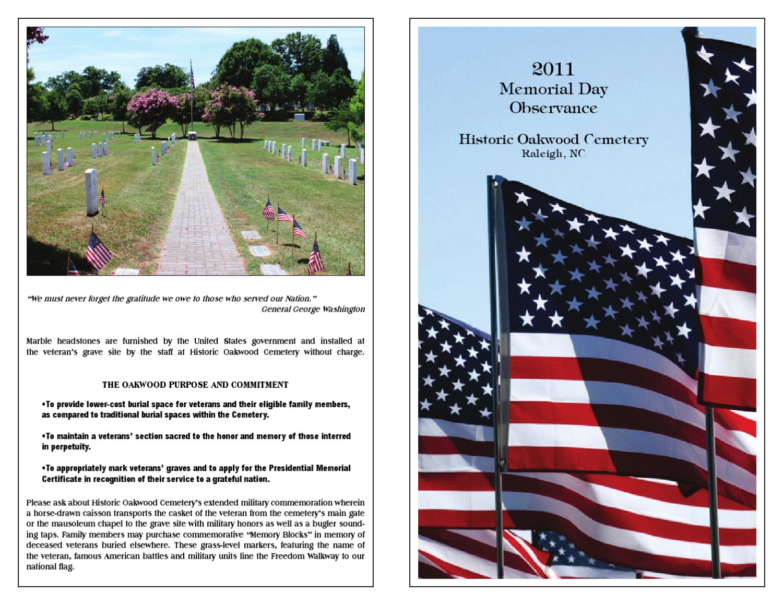 Memorial Day Program Historic Oakwood Cemetery By Robin Smith