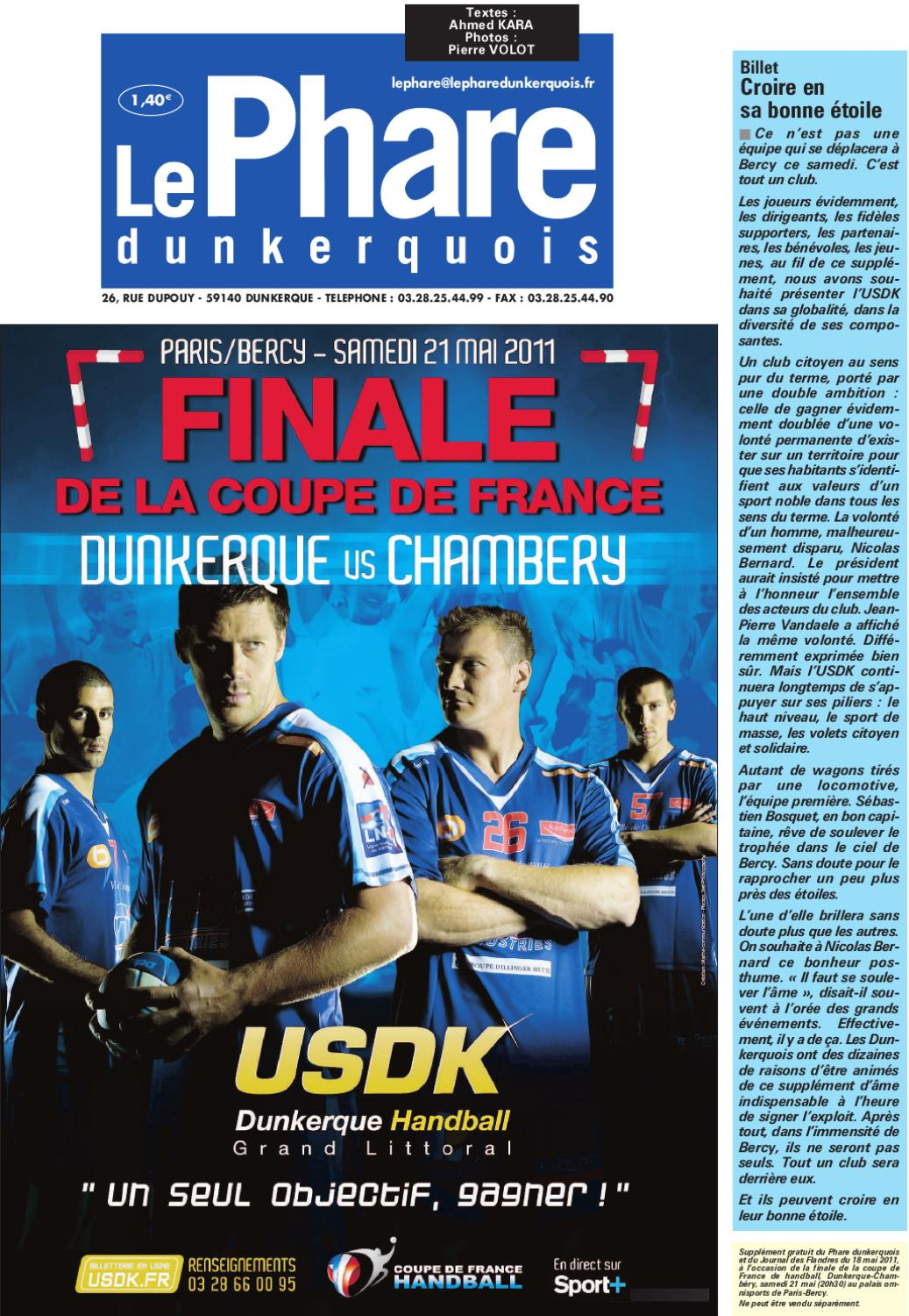 Finale de la coupe de france de handball dunkerque vs chamb ry by groupe nord littoral issuu - Coupe de france dunkerque ...
