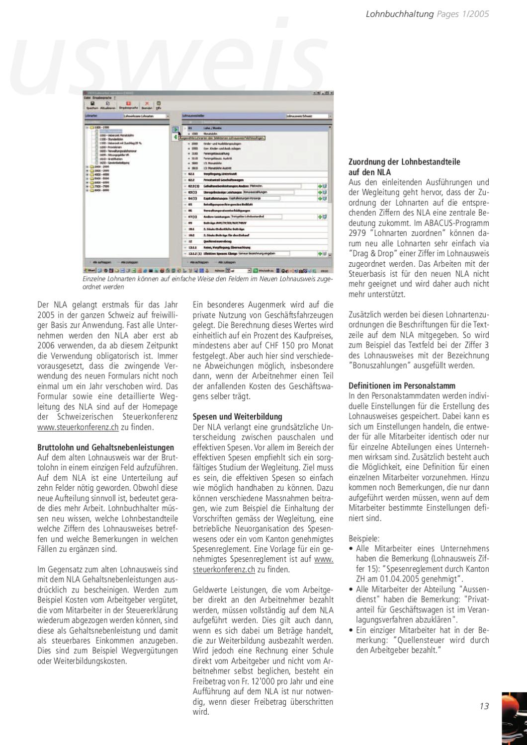 Kundenmagazin PAGES - Ausgabe 1/2005 by ABACUS Research AG - issuu