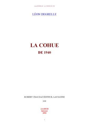 Leon Degrelle - La Cohue De 1940 - 1949 - Juif Clan9 Judaisme ... 69bd8c35bd2