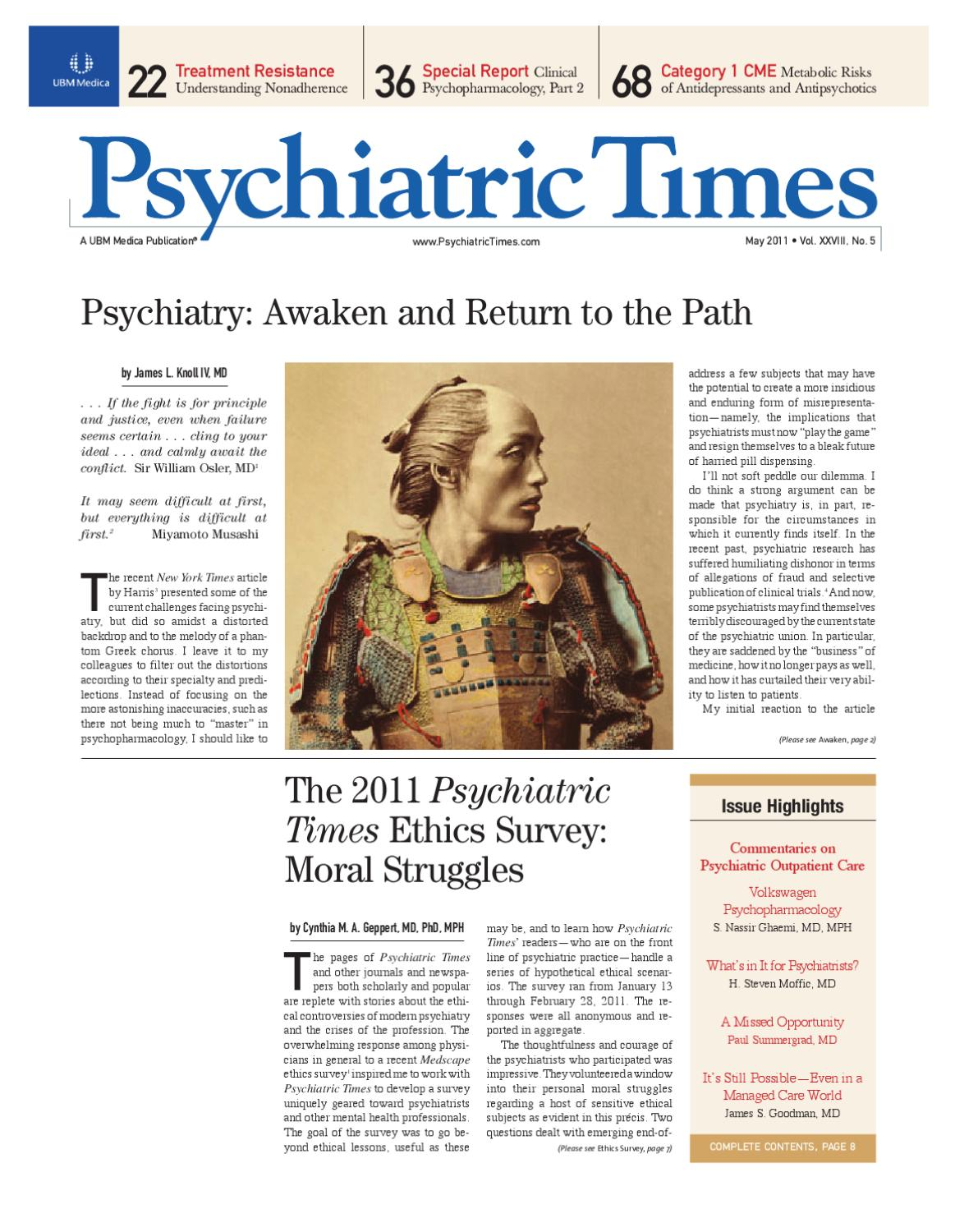 Psychiatric times may 2011 vol xxviii no 5 by ubm medica issuu fandeluxe Images