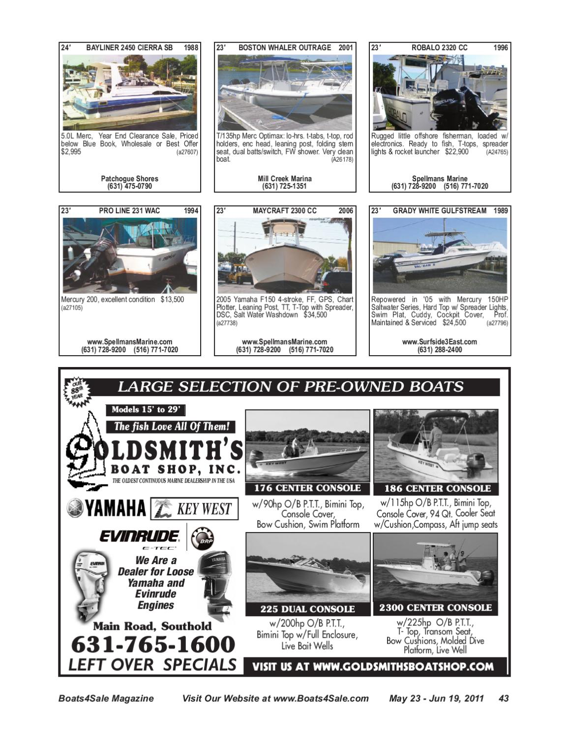 Boats4Sale com May 23 - June 19, 2011 by Boats4Sale com