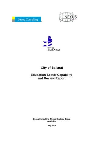Education gap review by business ballarat issuu city of ballarat education sector capability and review report malvernweather Gallery