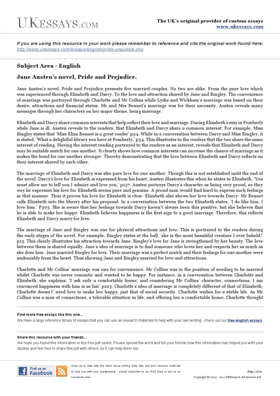 Free essays pride and prejudice simple form resume